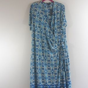 The Limited Short Sleeve Wrap Dress Size 1X